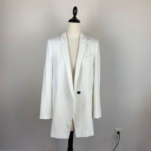 ZARA Woman Oversized White Blazer